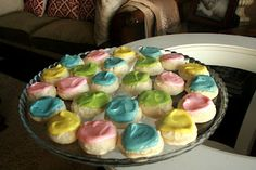 Easter meltaway cookies, only 4 ingredients in the cookies (plus the frosting)