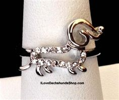 Dachshund Open Line Ring FREE SHIPPING