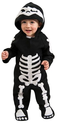 Amazon.com: Rubie's Costume Baby Skeleton Romper Costume, Black/White, 6-12 Months: Infant And Toddler Costumes: Clothing