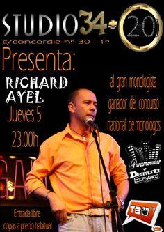 Monólogo: Richard Ayel @ Studio 34+20 - Ourense escea escena humor comedia
