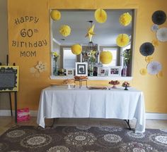 Yellow Party  (Mom's 60th surprise birthday party)