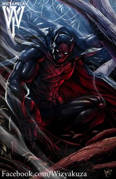 Black Panther (by: Wizyakuza) Arte Dc Comics, Marvel Comics Art, Marvel Heroes, Marvel Avengers, Comic Book Characters, Marvel Characters, Comic Character, Black Panther Art, Black Panther Marvel
