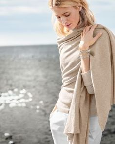 We've recast our favorite wrap in warmer, weightier cashmere — just right for cool nights, long flights, frosty offices, and alfresco weddings. The plush hand makes for an elegant cover-up or an exquisite scarf.