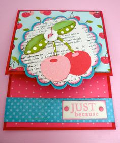 INSPIRATION for Cricut Nate's ABCs - cherries. This is done using Cricut Preserves.