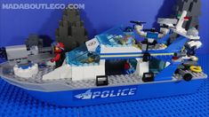 LEGO City Police Patrol Boat 60277. Surveillance Drones, Lego City Police, Police Patrol, Nerf, Boat, Dinghy, Boats, Ship