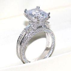 Cheap Wedding Rings, Wedding Rings Vintage, Wedding Rings For Women, Bridal Rings, Wedding Ring Bands, Wedding Jewelry, Trendy Wedding, Beautiful Wedding Rings, Big Diamond Wedding Rings