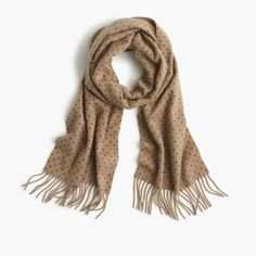 J.Crew Gift Guide: men's cashmere scarf in dot.