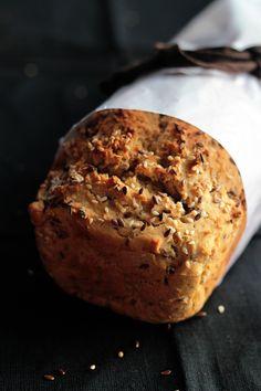 Easiest Vegan Flax & Sesame Seed Bread