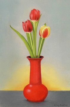 Draw These Still Life Pictures using Pastel Pencils Tulip Drawing, Pastel Drawing, Pastel Art, Still Life Drawing, Painting Still Life, Art Drawings For Kids, Colorful Drawings, Poster Color Painting, Poster Colour