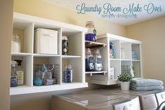 Cubby Shelf Hack, 20 Laundry Room Organization Ideas via A Blissful Nest