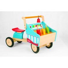 Lekker ijsjes verkopen met deze ijscokar, de ijsjes bewegen op en neer als je rijd.