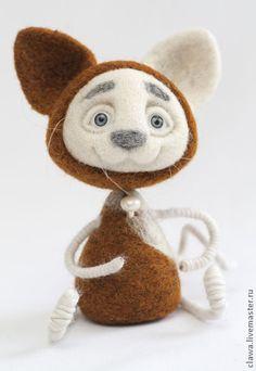 """Зверята ручной работы. Ярмарка Мастеров - ручная работа войлочная игрушка """"Котик-Рыжик"""". Handmade."""