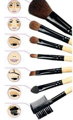 Basic brushes and their uses.