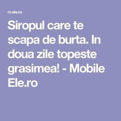 In doua zile topeste grasimea! Seasonal Allergies, Health Department, Natural Cures, Healthy Life, Health Tips, The Cure, Health And Beauty, Food And Drink, Health Fitness