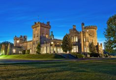 Dromoland Castle, Ireland Embellished with stunning antique chandeliers and grand staircases, this renowned hotel was once home to the O'Briens of Dromoland, known throughout Ireland as the Kings of Thomond. Settled on 400 acres, the 16th-century monument offers an 18-hole golf course, as well as archery and falconry classes.