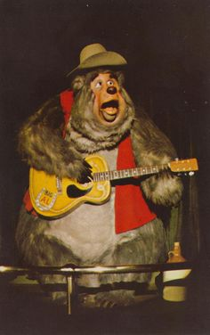 Big Al is an overweight gray bear who performs in the Disney theme park attraction Country Bear Jamboree. From Country Bear Jamboree record album: Disney Wiki, Disney Parks, Walt Disney, Punk Disney, Disney Characters, Country Bears, Marionette, Disney World Magic Kingdom, Vintage Disneyland