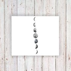 Moon phase temporary tattoo