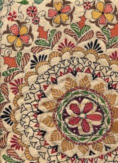 Yikes. I love this Eastern European folk floral fabric.