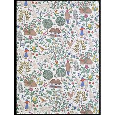 The House that Jack Built  Object: Fabric  Place of origin: Great Britain, Uk (manufactured)  Date: ca.1929 (manufactured)  Artist/Maker: C. F. A. Voysey, born 1857 - died 1941 (designer)  Morton Sundour Fabric Ltd. (manufacturers)  Materials and Techniques: Cotton, printed  Credit Line: Given by C.F.A. Voysey