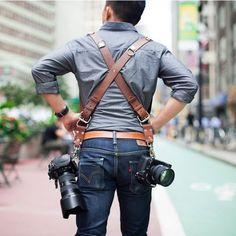 Leather Multi Camera Strap - $209
