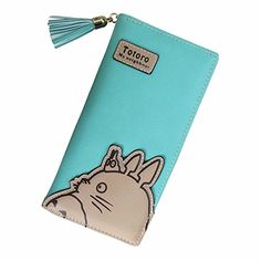 Hayao Miyazaki Anime My Neighbor Totoro Cosplay Cartoon Women Girl Students Long Bifold Wallet Purse Green *** Details can be found by clicking on the image.
