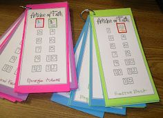 Printable Articles Of Faith Cards to keep track of who has passed off their Articles of Faith