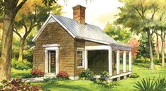 Garden Cottage guest house from Southern Living