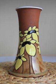 Sunflower vase от MugsAtFirstSight на Etsy