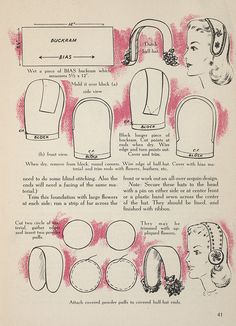 These simple instructions for a clever 1950's hat gave me an idea for interesting use of beaded circles for trim on cold weather N/A style fashions.