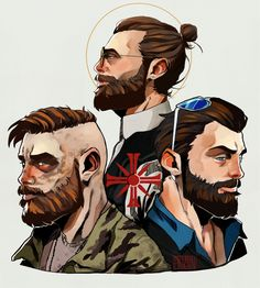 Far Cry 5 fanart of the Seed brothers Far Cry Game, Far Cry 4, 3 Arts, Far Away, So Little Time, Game Art, Dawn, Crying, Fantasy Art