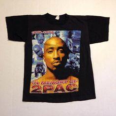 2f4b76debc Vintage 1990 s Tupac Shakur t-shirt Tupac Shakur