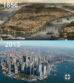 NYC, Lower Manhattan 1856 – 2013 – Hamdi Demir – Join the world of pin New York Pictures, New York Photos, Old Pictures, Vintage New York, Lower Manhattan, Manhattan Nyc, Ciudad New York, Photographie New York, New York City