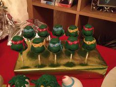 Teenage Mutant Ninja Turtle Cakepops