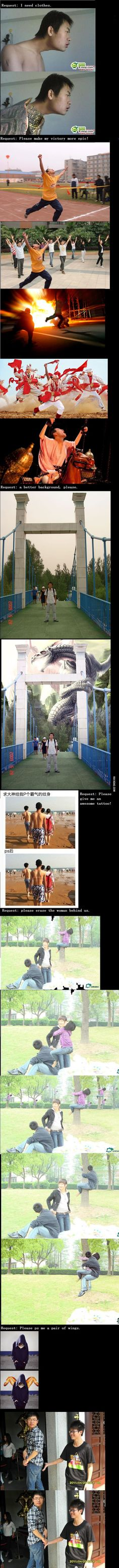 Another round of Chinese photoshop trolls