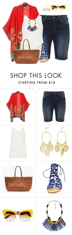 plus size kimono styles/summer diva by kristie-payne on Polyvore featuring maurices, WithChic, Silver Jeans Co., Steve Madden, J.Crew, MANGO, Kenneth Jay Lane and Dolce&Gabbana