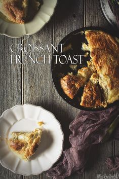 Make this Baked Croissant French Toast for breakfast!!  via PasstheSushi.com