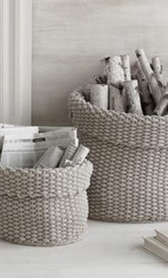 love to use baskets for all sorts of decorating