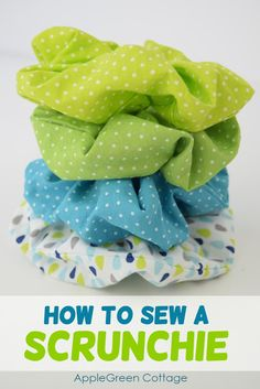 How To Make Scrunchies - AppleGreen Cottage - - These diy scrunchies will turn out super cute! See how to make scrunchies - in minutes! Easy Sewing Projects, Sewing Projects For Beginners, Sewing Hacks, Sewing Tutorials, Sewing Crafts, Sewing Tips, Sewing Ideas, Diy Projects, Sewing Patterns Free