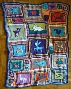 Eläinsatupeitto / animal themed baby blanket