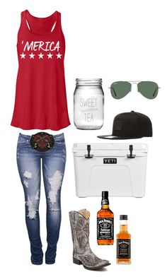 """""""courtesy of the Red, White & Booze"""" by harleygrace20 on Polyvore featuring Susquehanna Glass, Carhartt, Corral and Ray-Ban"""