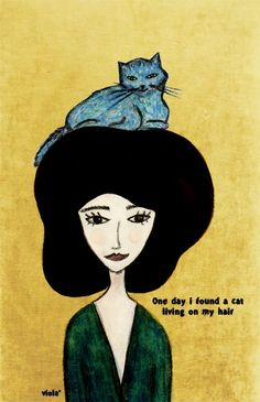 viola': A cat living on my hair