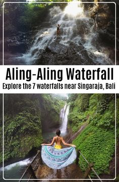 Aling Aling Waterfall is located near Singaraja in Bali Indonesia. There are 7 waterfalls in total ad it is one of the best waterfalls in Bali. Travel List, Travel Guides, Travel Plan, Bali Travel, Travel And Tourism, Beautiful Waterfalls, Beautiful Landscapes, Gili Island, Adventure Awaits
