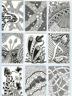 Zentangle ATCs by PRaile, via Flickr