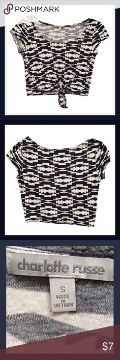 ‼️FLASH SALE‼️Charlotte Russe Crop Top Gently used CHARLOTTE RUSSE short sleeve crop top;    Size Small                                             ✅BUNDLE AND SAVE Charlotte Russe Tops Crop Tops