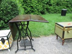 Antique Sewing Table- could be repurposed for a console table