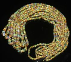 """1 Strand 3 to 5 mm 16"""" Beads Natural Genuine Ethiopian Welo Fire Opal** 439"""