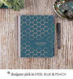 We love this pattern that seems to be popping up everywhere! The #ECLifePlanner with the #Honeycomb cover design! #ErinCondren