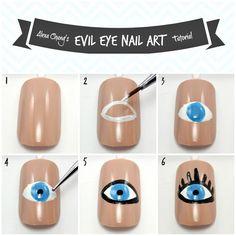 Evil Eye Nail Art Tutorial