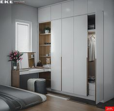 45 Creative Bedroom Wardrobe Design Ideas That Inspire On Like everything else in life, there are those who were born to plan out bedrooms and those who would rather … Wardrobe Design Bedroom, Bedroom Cupboard Designs, Bedroom Cupboards, Closet Bedroom, Home Decor Bedroom, Modern Bedroom, Bedroom Furniture, Closet Office, Small Bedroom With Wardrobe