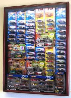 Hot Wheels display cabinet
